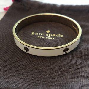 Kate Spade white and gold bangle